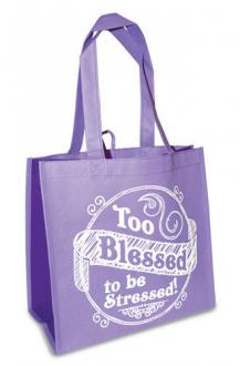 23798 Shopping Bag - Too Blessed To Be Stressed (Lilla)