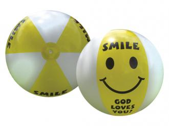 80102280 Badeball - Smile God Loves You