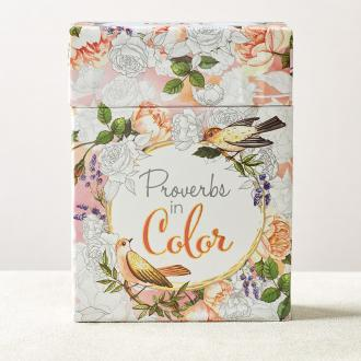 CBX 006 Boxed Coloring Cards - Proverbs in Color
