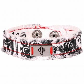 CHCB 109 Cherished Canvas Bracelet - Black & White