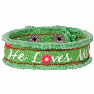 CHCB 112 Armbånd - He Loves Me Cherished Canvas Bracelet
