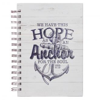 JLW 043 Notisbok - Hope As An Anchor (Hvit)