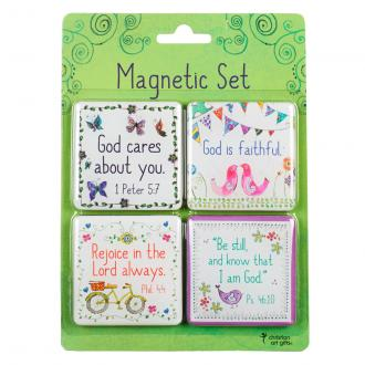 MGS 018 Magnetsett - God Cares About You 4 pk