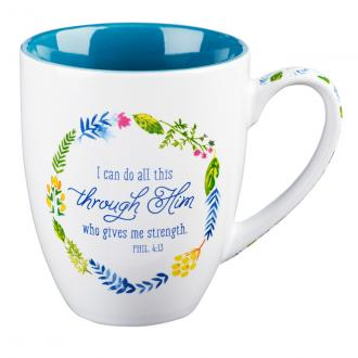 MUG 423 Kopp - I Can Do All Things Through Him...
