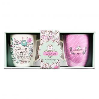 MUGS 06 Kopper 2 pack - Psalm 23