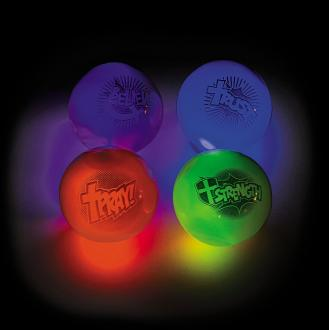 13654215 Lysende Sprettballer - Flashing Balls Faith