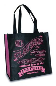 22733 Shopping Bag - She is Clothed in Strength & Dignity