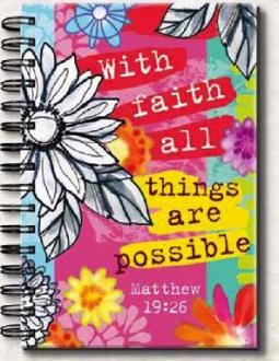 23577 Notisbok - With Faith All Things Are Possible