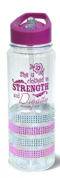 24440 Drikkeflaske - She Is Clothed In Strength And Dignity