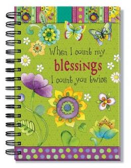 24661 Notisbok Spiralbundet - When I Count My Blessings I Count You Twice