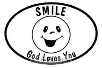 434589 Bilmerke - Smile God Loves You (Euro-Style Stickers)