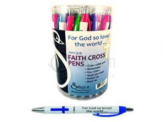 48278 Faith Cross Pens - For God So Loved The World