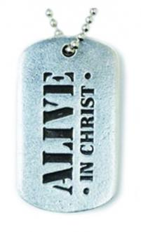 510-327-1842 Halskjede New ID Tag Alive in Christ