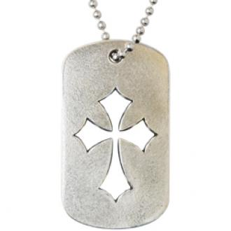 Christian Necklace - J.C.I.D. Flared Pointy Cross Tag