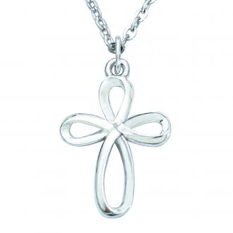 510-331-4983 Halskjede - Silver Ribbon Cross