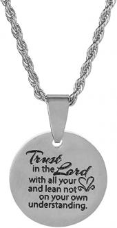 Halskjede - Trust In The Lord With All Your Heart (Stainless steel 46 cm)