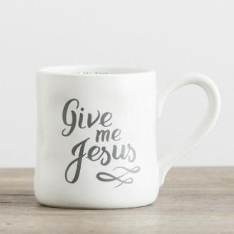 68517 Kopp i Keramikk - Give Me Jesus (Hand-Thrown Mug ca 350 ml)