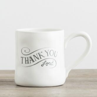 68519 Kopp i Keramikk - Thank You Lord (Hand-Thrown Mug ca 350 ml)