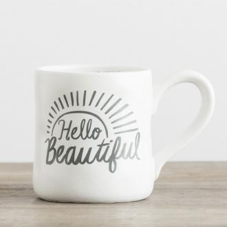68520 Kopp i Keramikk - Hello Beautiful (Hand-Thrown Mug ca 350 ml)