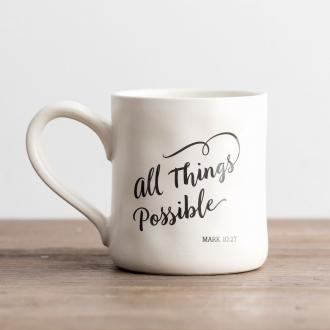 71456 Kopp i Keramikk - All Things Possible (Hand -Thrown Mug ca 350 ml)