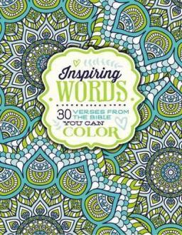 757283 Fargebok - Inspiring Words, 30 Verses From The Bible You Can Color