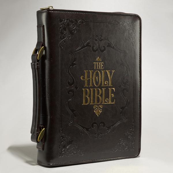 BBM 570 Bibeltrekk - The Holy Bible (dypbrun)
