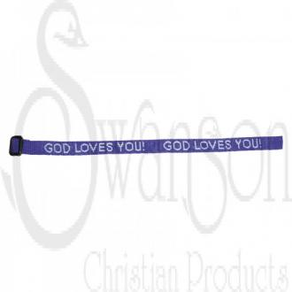 87268 Armbånd Lilla - God Loves You!