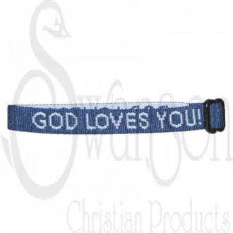 87269 Armbånd Marineblå - God Loves You!