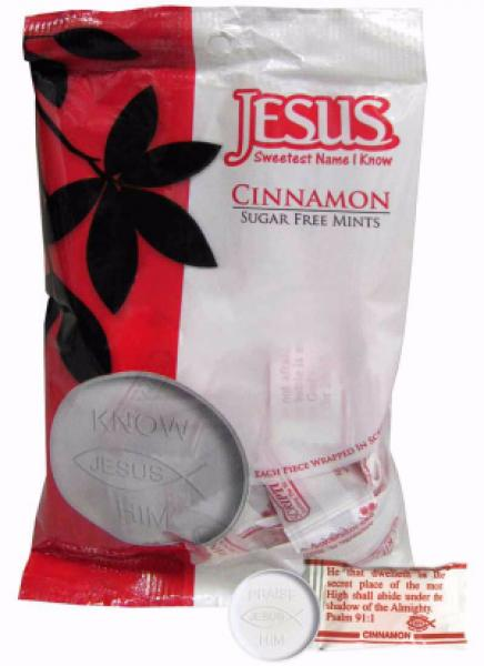 914123 Scripture Candy Mints Bag - Cinnamon (Kanel)