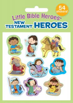 940689 Klistremerkesett - New Testament Heroes (54 stickers)