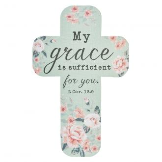 BMC 124 Bokmerke kors - My Grace Is Sufficient For You