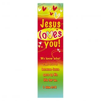BMP 057 Bokmerke - Jesus Loves You (1.John 3:16)