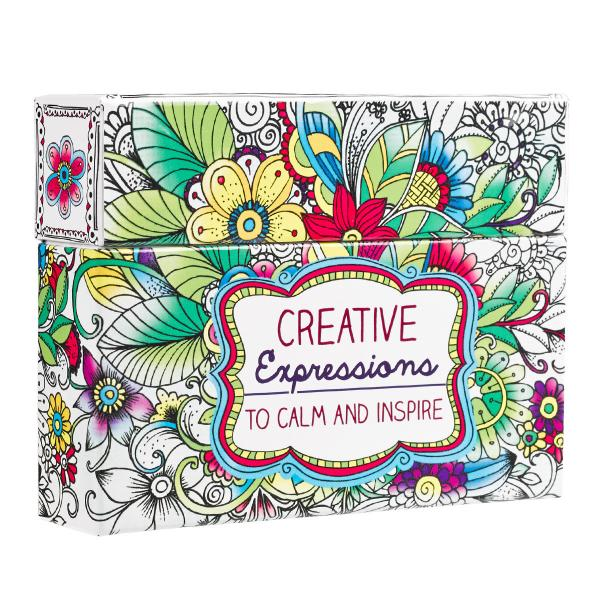 CBX 001 Boxed Coloring Cards - Creative Expressions to Calm and Inspire