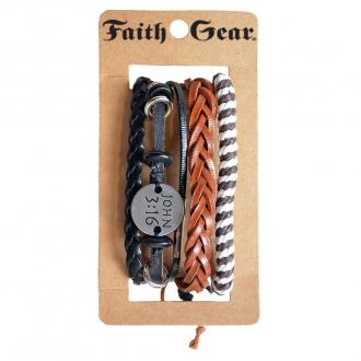 FGBJ 169 Armbånd Faith Gear - John 3:16