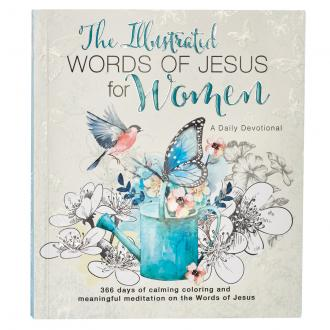 GB 085 Fargebok & Andaktsbok - The Illustrated Words Of Jesus For Woman