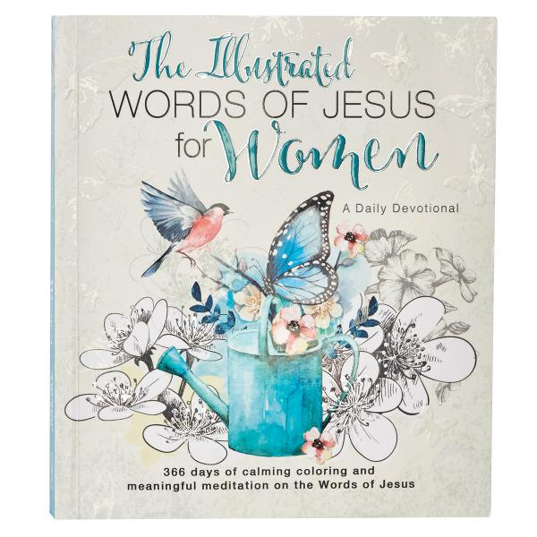 GB 085 Fargebok & Andaktsbok - The Illustrated Words Of Jesus For Woman - CAG