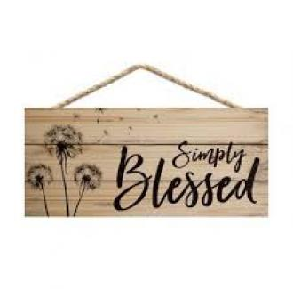 HSA 0175 Veggdekor - Simply Blessed (11 x 25 cm)