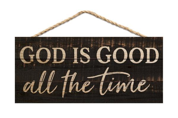 HSA 0182 Veggdekor - God Is Good All The Time (25 x 11 cm)