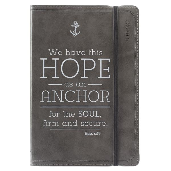 JL 184 Notisbok LuxLeather - We Have This Hope As An Anchor