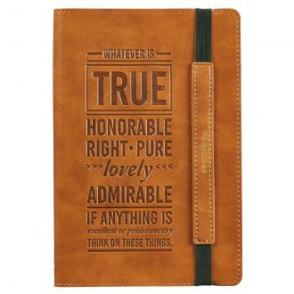 JL 355 Notisbok LuxLeather - Whatever Is True Honorable Right Pure Lovely....