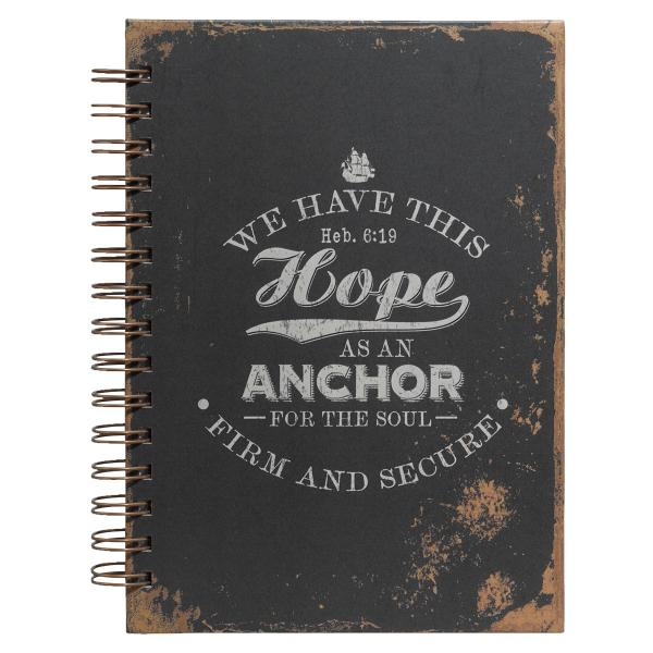 JLF 117 Notisbok - Hope As An Anchor (Sort)