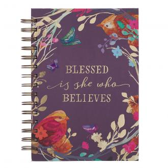 JLW 084 Notisbok Spiralbundet - Blessed Is She Who Believes