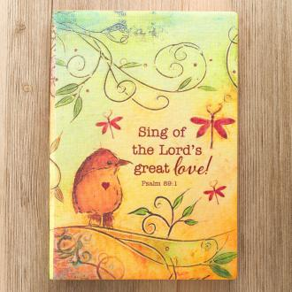 JPP 006 Notisbok - Sing Of The Lord's Great Love Silken-Printed Flexicover