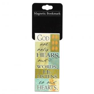 MBM 037 Magneisk Bokmerke - God Not Only Hears Our Words, He Listens To Our Hearts