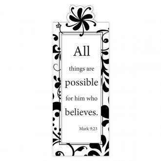 MBM 102 Magnetisk Bokmerke - All Things Are Possible Fir Him Who Believes
