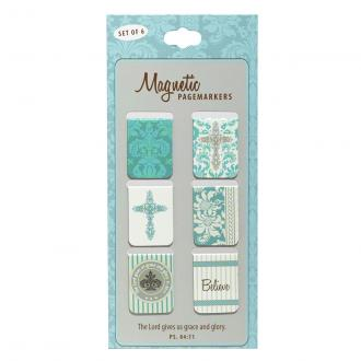 MGB 013 Magnetiske Bokmerker- The Lord Gives Us Grace And Glory (6 pack)