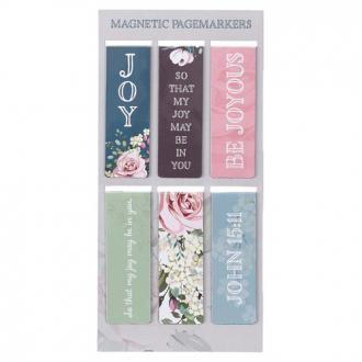 MGB 057 Magnetsik Bokmerke - That My Joy May Be In You (6 pk)