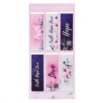 MGB 060 Magnetisk Bokmerke - Faith Hope Love (6 pk)