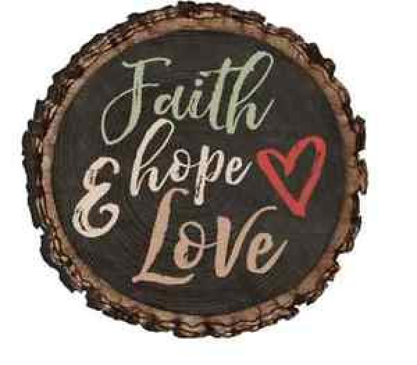 MGT 0112 Magnet - Faith Hope & Love - P. Graham Dunn
