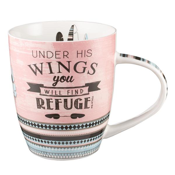 MUG 406 Kopp - Under His Wings You Will Find Refuge